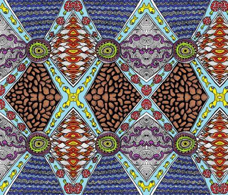 God__the_centre_edited_and_coloured fabric by g-mana on Spoonflower - custom fabric