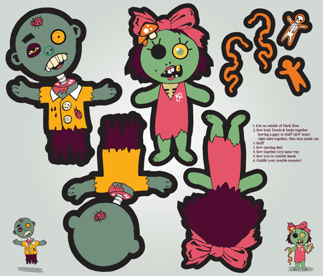 zombie-plush02 fabric by zombielover on Spoonflower - custom fabric