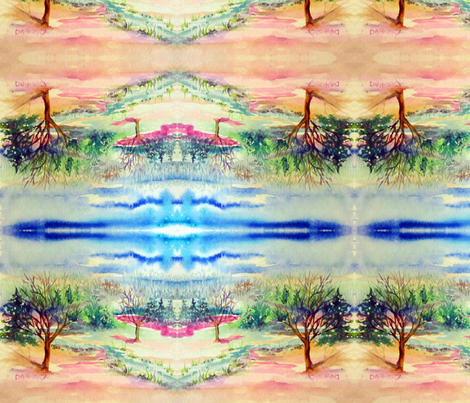 Little_Tree_Landscape fabric by tree_of_life on Spoonflower - custom fabric