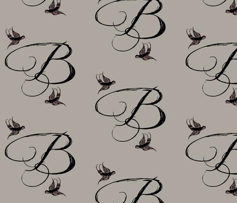 B is for Bella fabric by keweenawchris on Spoonflower - custom fabric