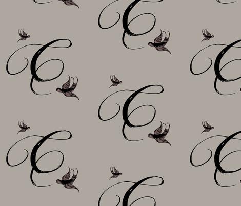 C is for Crystal fabric by keweenawchris on Spoonflower - custom fabric