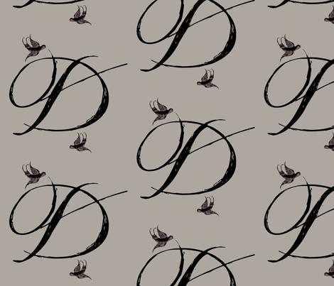 D is for Deedee fabric by keweenawchris on Spoonflower - custom fabric