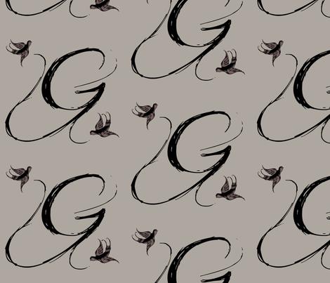 G is for Gio fabric by keweenawchris on Spoonflower - custom fabric