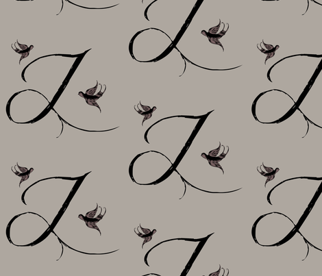 J is for Jeanne fabric by keweenawchris on Spoonflower - custom fabric