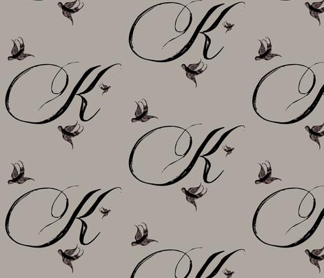 K is for Kelley fabric by keweenawchris on Spoonflower - custom fabric