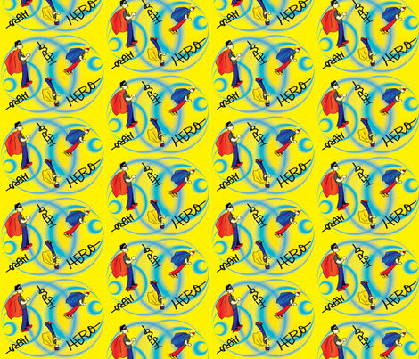 Hero fabric by hmooreart on Spoonflower - custom fabric