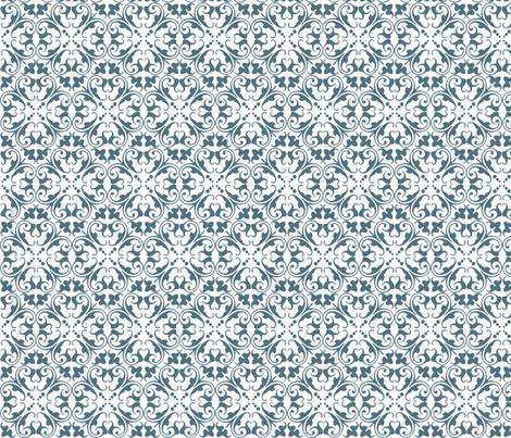 lizzie blue fabric by lilbirdfly on Spoonflower - custom fabric