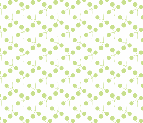 grass berries on white fabric by christiem on Spoonflower - custom fabric