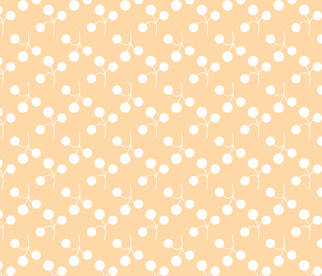 white on orange berries fabric by christiem on Spoonflower - custom fabric