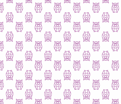 lilac owls fabric by christiem on Spoonflower - custom fabric