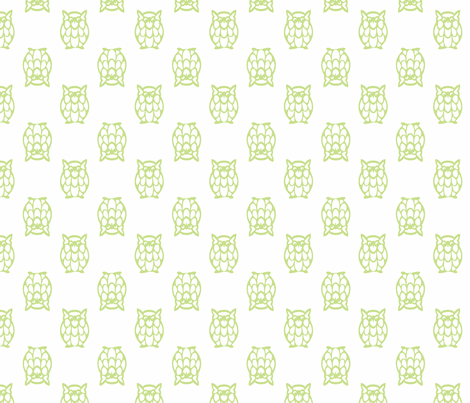 grass owls fabric by christiem on Spoonflower - custom fabric