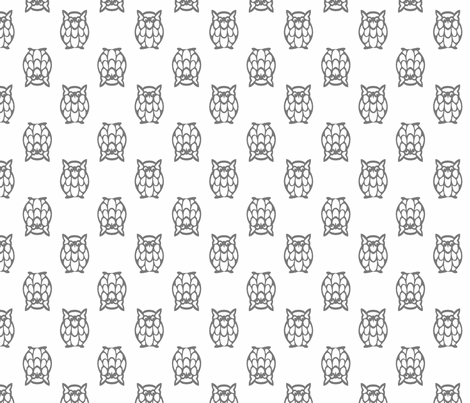 gray owls fabric by christiem on Spoonflower - custom fabric