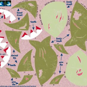 Chubby Zombie Shark (cut & sew)