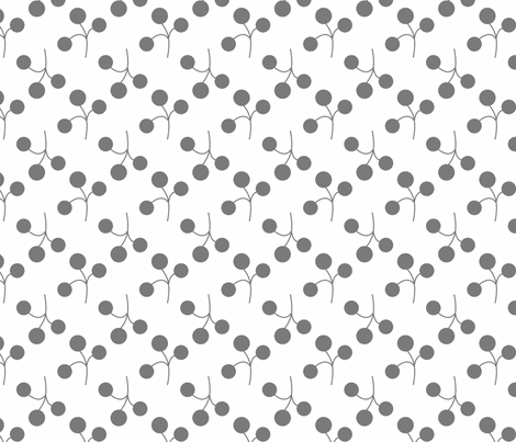 gray berries on white fabric by christiem on Spoonflower - custom fabric