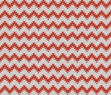 8bit Chevron Red fabric by ilikemeat on Spoonflower - custom fabric