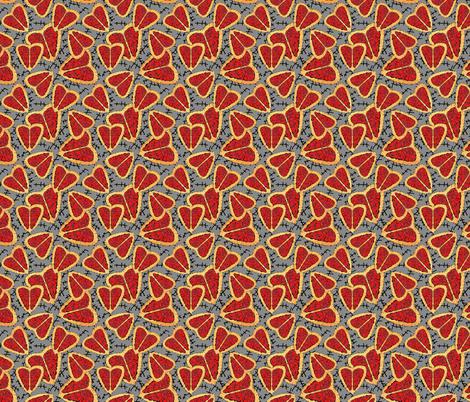 I Heart Brains-Zombie Annabelle dress fabric fabric by joojoostrees on Spoonflower - custom fabric