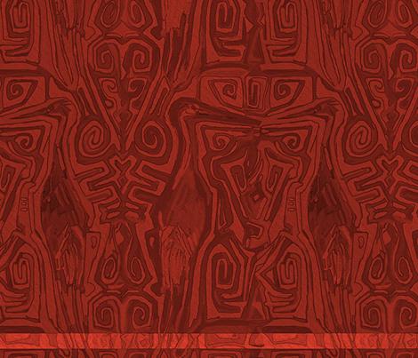 Pacific Cranes - Bing Cherry Red fabric by wren_leyland on Spoonflower - custom fabric