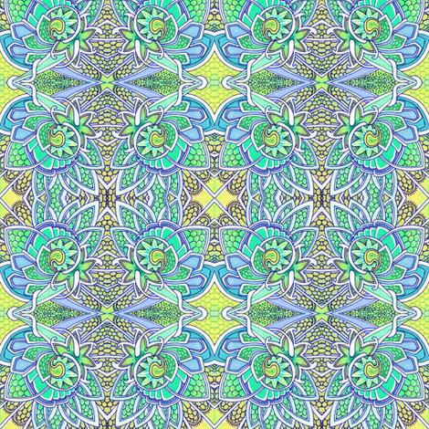Dragon Scale Snail Garden Fantasy fabric by edsel2084 on Spoonflower - custom fabric