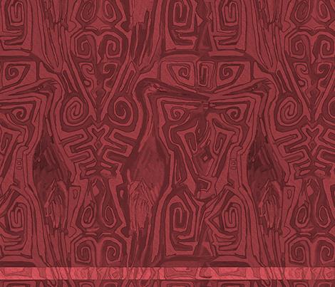 Pacific Cranes - Rose Plum fabric by wren_leyland on Spoonflower - custom fabric