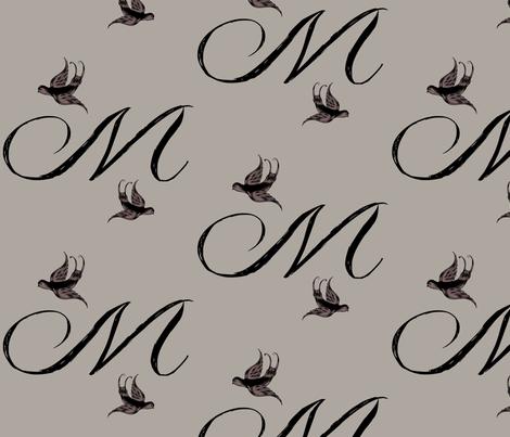 M is for Mistey fabric by keweenawchris on Spoonflower - custom fabric