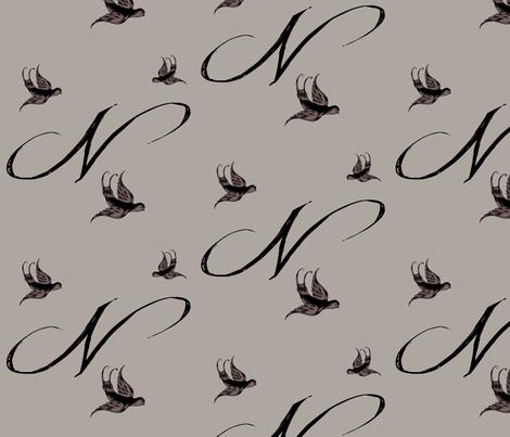 N is for Nina fabric by keweenawchris on Spoonflower - custom fabric