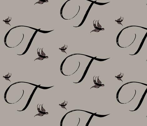 T is for Tulla fabric by keweenawchris on Spoonflower - custom fabric