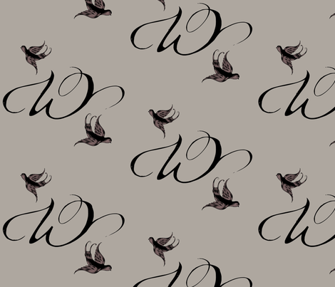 W is for Willow fabric by keweenawchris on Spoonflower - custom fabric