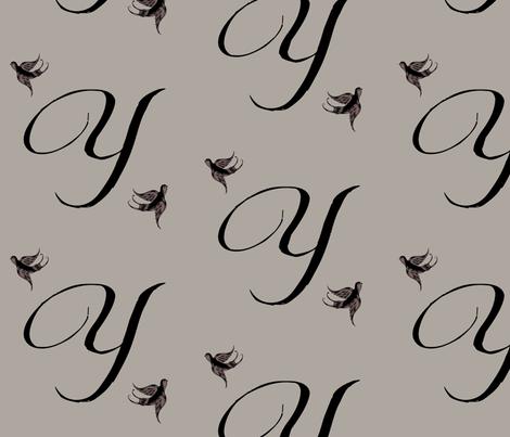 Y is for Yolonda fabric by keweenawchris on Spoonflower - custom fabric