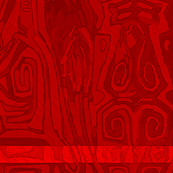 Pacific Cranes - Deep Red