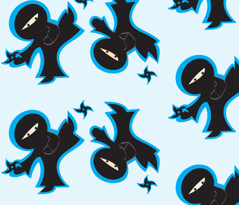 Ninja Heroes fabric by kiwicuties on Spoonflower - custom fabric