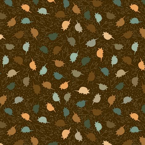 Armadillo Leaves fabric by maplewooddesignstudio on Spoonflower - custom fabric