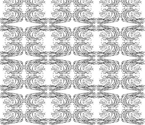 Inkblot Wave fabric by art_rat on Spoonflower - custom fabric