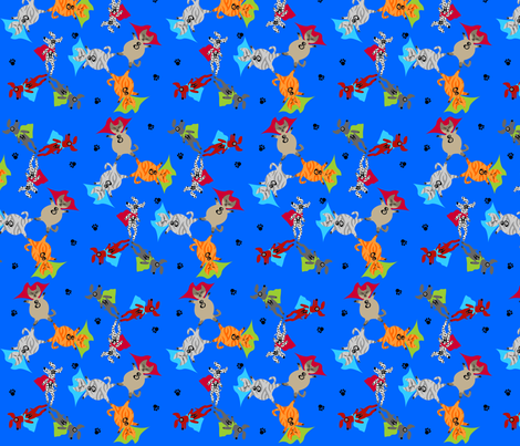 My Little Heroes fabric by glimmericks on Spoonflower - custom fabric