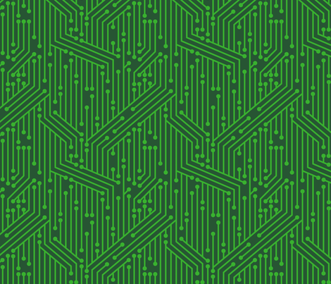 Printed Circuit Board (Green) fabric by leighr on Spoonflower - custom fabric