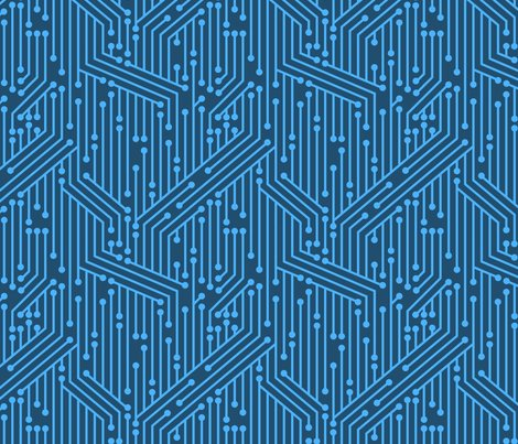 Printed Circuit Board (Blue) fabric - leighr - Spoonflower