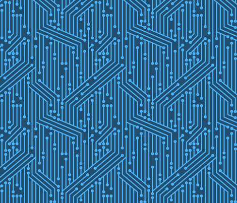 Printed Circuit Board (Blue) fabric by leighr on Spoonflower - custom fabric