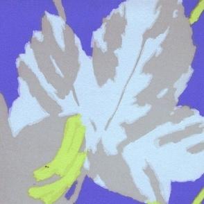 Blue Maple Leaf