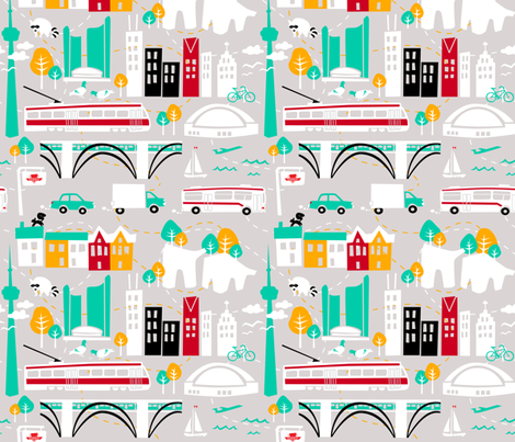 I heart TO fabric by elainethebrain on Spoonflower - custom fabric