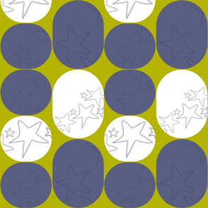 Stars in a retro pattern
