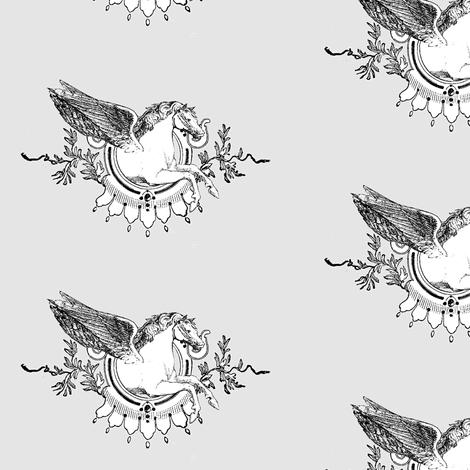 pegasusframelightpurple fabric by ragan on Spoonflower - custom fabric