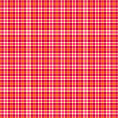 Fall'n For Pink! - Pinky Plaid - © PinkSodaPop 4ComputerHeaven.com fabric by pinksodapop on Spoonflower - custom fabric