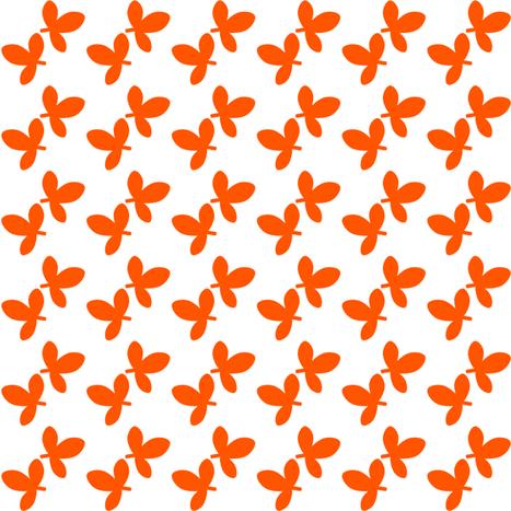 Fall'n For Pink! - Leafy Orange! - © PinkSodaPop 4ComputerHeaven.com fabric by pinksodapop on Spoonflower - custom fabric