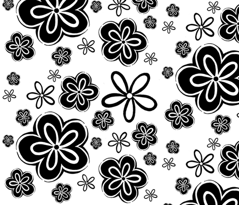 Oopsy Daisy - Big fabric by designergal on Spoonflower - custom fabric