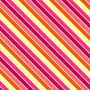 Fall'n For Pink! - Diagonal Stripes - © PinkSodaPop 4ComputerHeaven.com