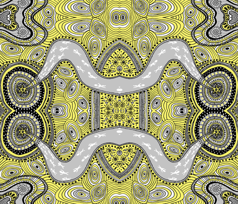 Plans_for_you_edited_lemon-_grey fabric by g-mana on Spoonflower - custom fabric