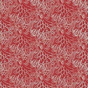 Red Floral October