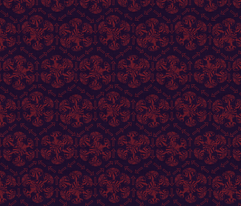 pointythings - glowing embers fabric by glimmericks on Spoonflower - custom fabric
