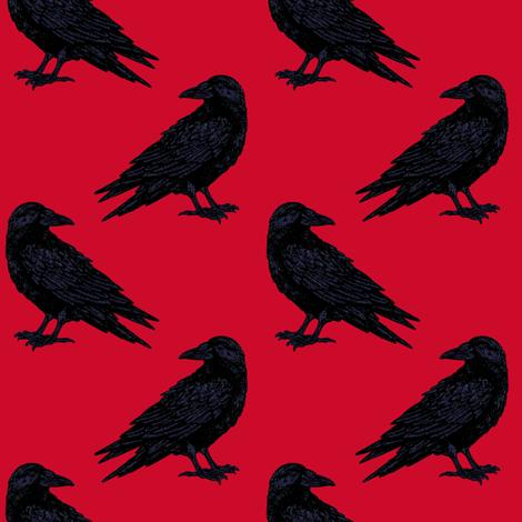 Red Ravin'  fabric by keweenawchris on Spoonflower - custom fabric