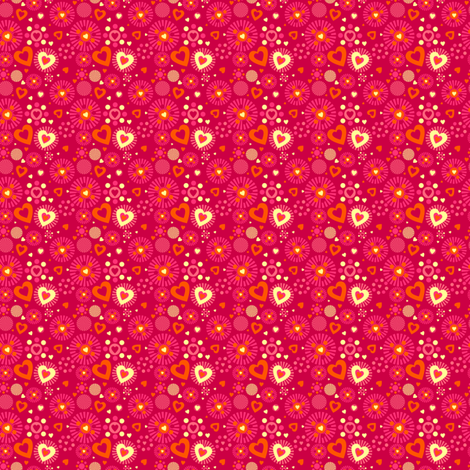 Fall'n For Pink! - Love Explosion! - © PinkSodaPop 4ComputerHeaven.com fabric by pinksodapop on Spoonflower - custom fabric