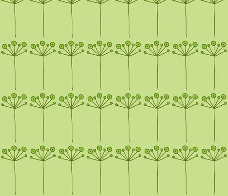 pop flower green fabric by dnbmama on Spoonflower - custom fabric
